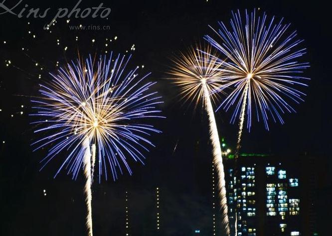 2016年12月惠州万科双月湾五周年音乐焰火燃放